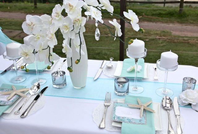 décoration mariage mer et orchidée #wedding #mariage