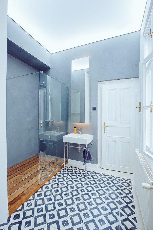 geometric kibo tiles in koool bathroom
