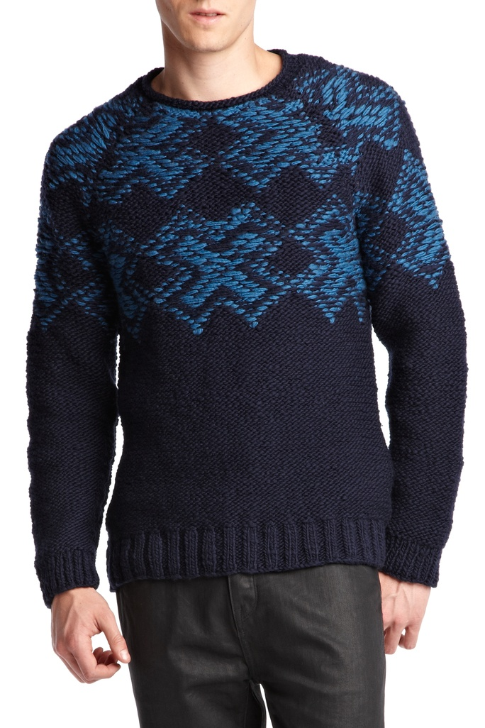 Edun | lovely pattern on crewneck sweater