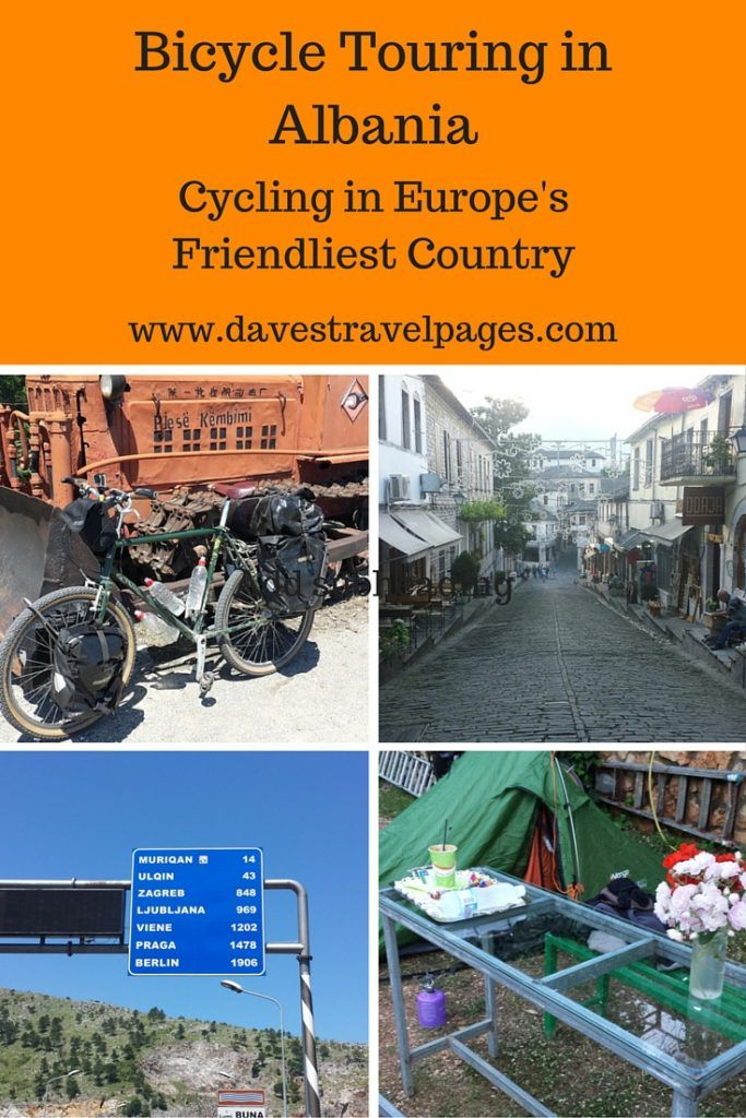 Bicycle touring in Albania - Cycling in Europe's friendliest country. In May 2016, I cycled in Albania during my Greece to England bicycle tour. Lots of information on routes, where to stay, and why I think Albania is Europe's friendliest country!