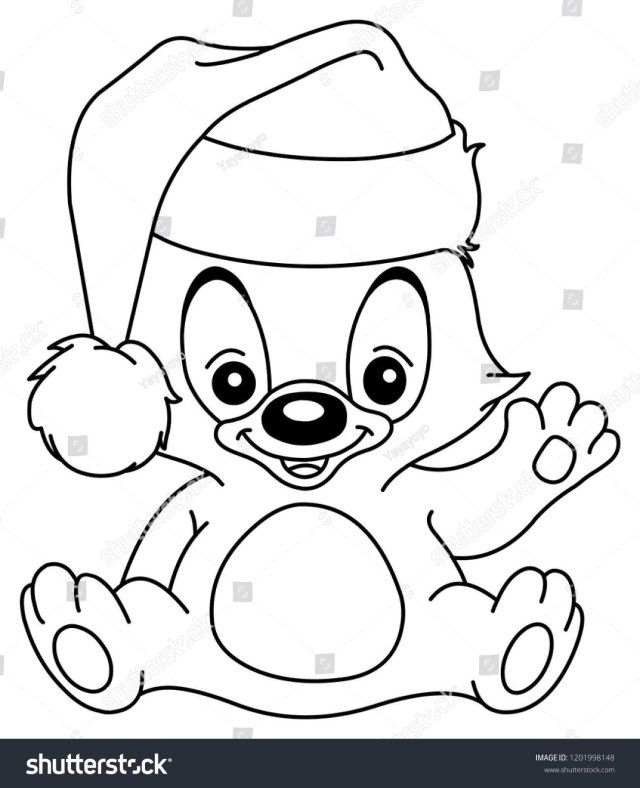 27 Wonderful Picture Of Santa Hat Coloring Page Santa Coloring