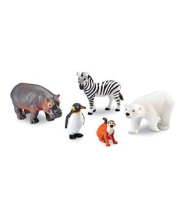 Take a look at this Jumbo Zoo Animals Figurine Set by Learning Resources on #zulily today! $18 !!