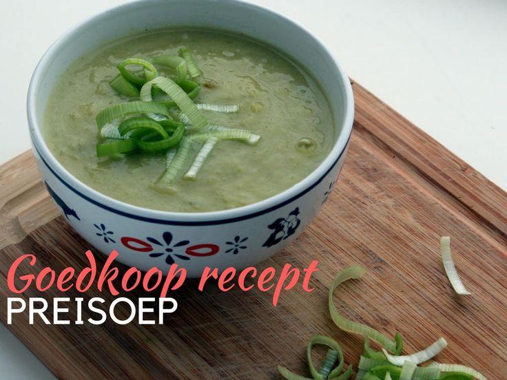 Goedkoop recept voor lekkere preisoep. Voor minder dan twee euro zet je binnen no-time 6 heerlijke koppen soep op tafel.