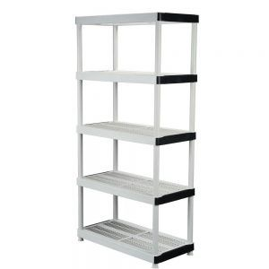 Hdx Plastic Ventilated Storage Shelving Unit