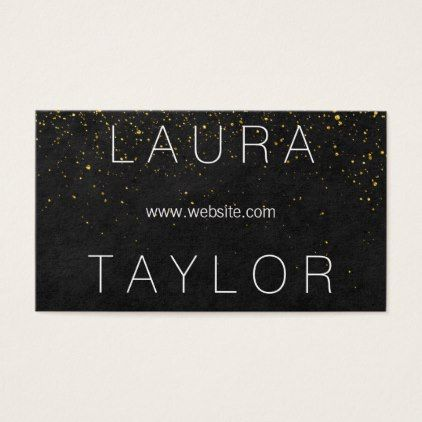 #Sleek and Sophisticated Gold Speckled Business Card - #cosmetologist #gifts #beauty