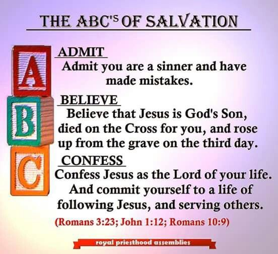 The 25+ best Abc of salvation ideas on Pinterest   The ...