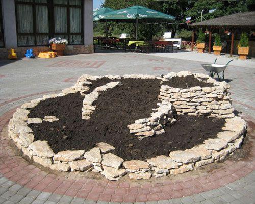 Каменная основа альпийской горки