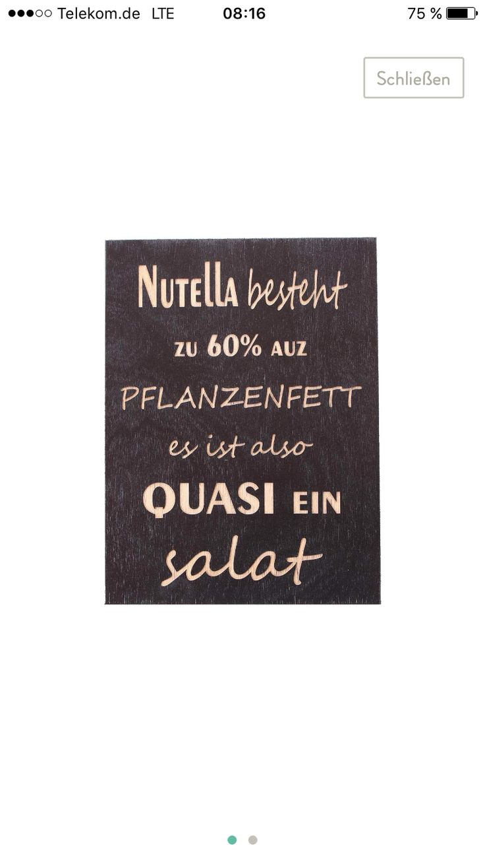 Nutella besteht zu 60% aus Pflanzenfett....