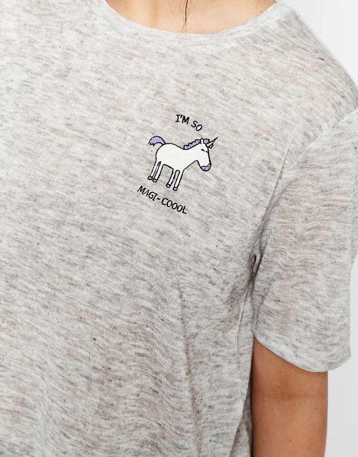 Bild 3 von ASOS – T-Shirt mit Einhorn- und Magi-Cool-Print