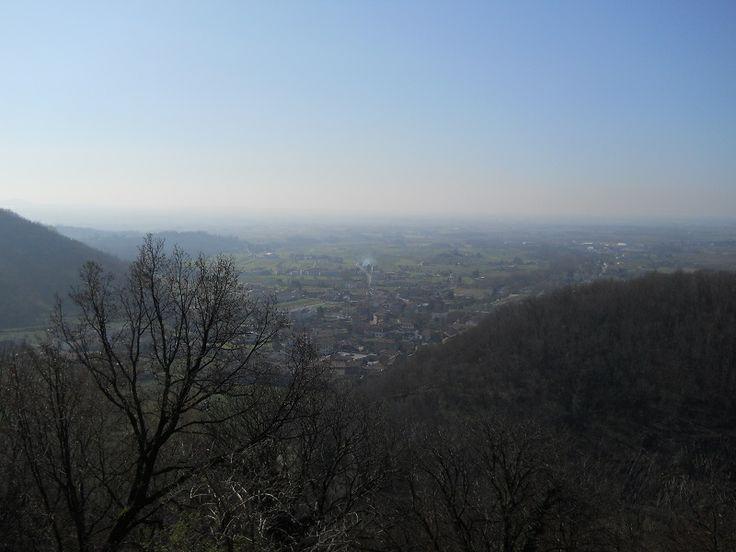 Questo è il panorama dal Castello di Zucco
