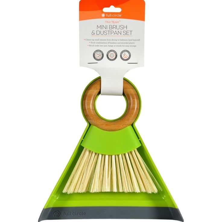 Full Circle Home Dustpan and Brush Set - Mini - Tiny Team - 1 Set