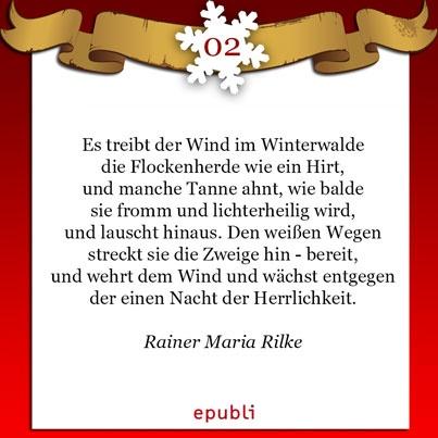 Weihnachtsgedicht rainer maria rilke