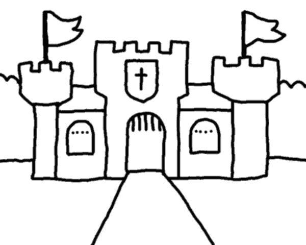 Castle Outline Free2img Com Halloween Outline