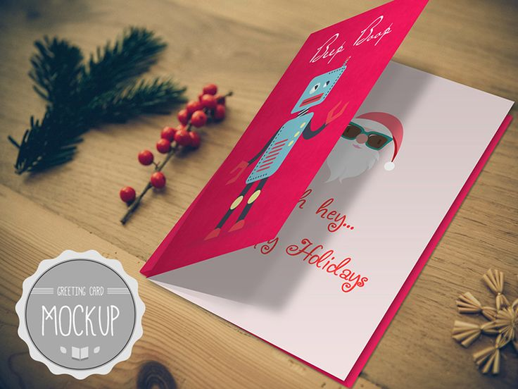Greeting Card Mockup Photoshop PSD Template Best Templates - greeting card templates