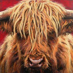 Highland Cow Paintings - Highland Cow by Leigh Banks
