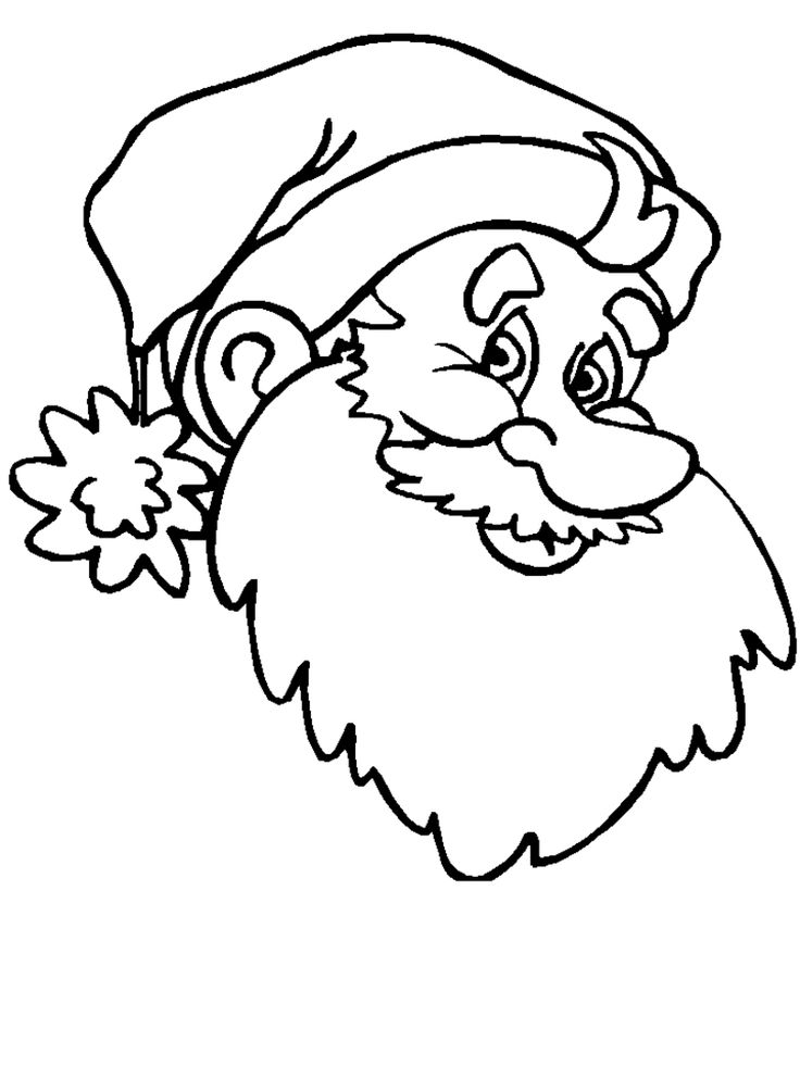 Christmas Coloring Pages Santa 5 6