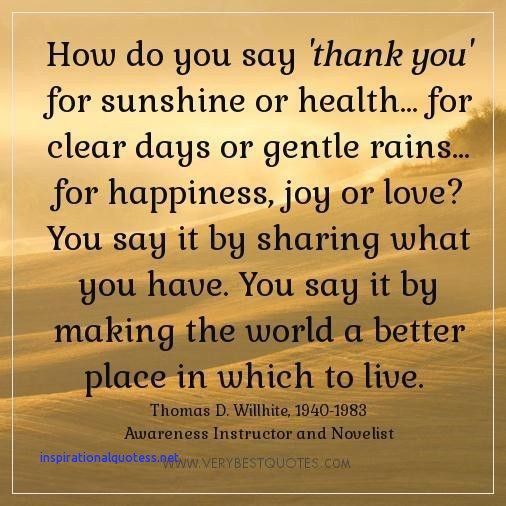Inspirational Quotes to Say Thank You