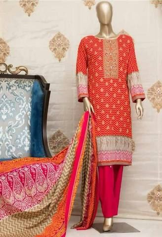 f3645a7331 Bin Saeed Lawn Suit, Ladies Designer Replica, Online Clothes Shopping.