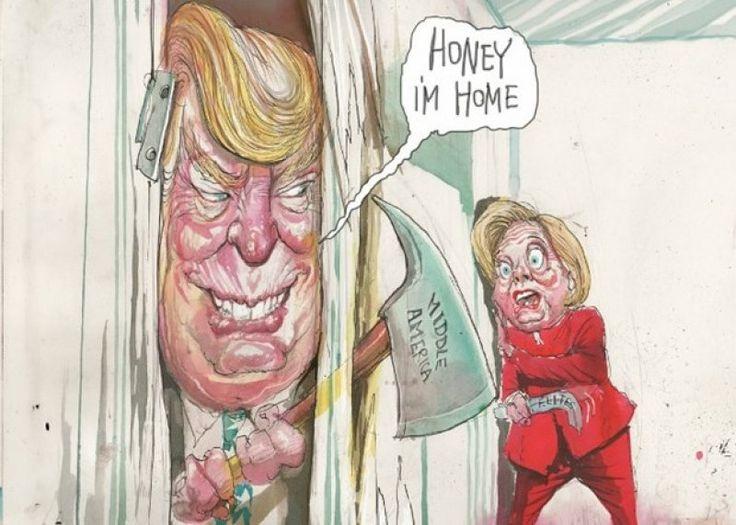 Donald Trump'a komik karikatürler - 1. resim