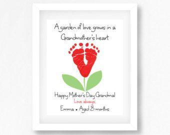 Mothers Day Gift from Grandkids par PerfectLittlePrints sur Etsy
