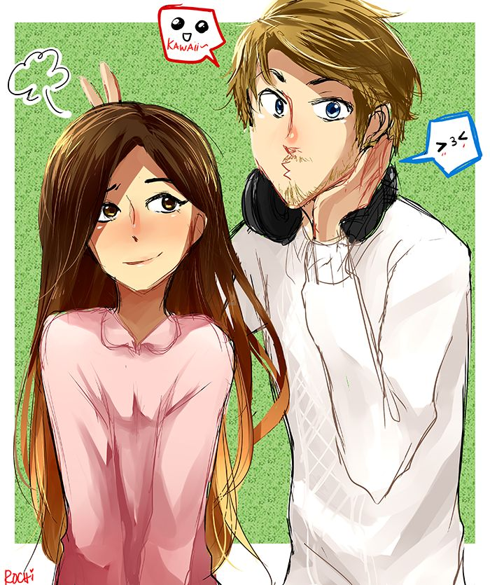 Cry+Pewds+Minx+and+Ken | Pewds and Marzia by rochichan