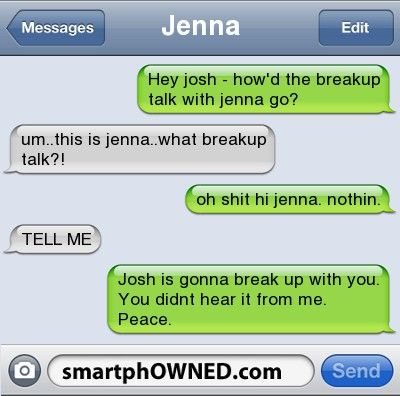 Funny break up text fails opinion you