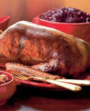 Nigella Lawson: Roast goose with pear & cranberry stuffing - Christmas. I have tried her recipe very nice (;