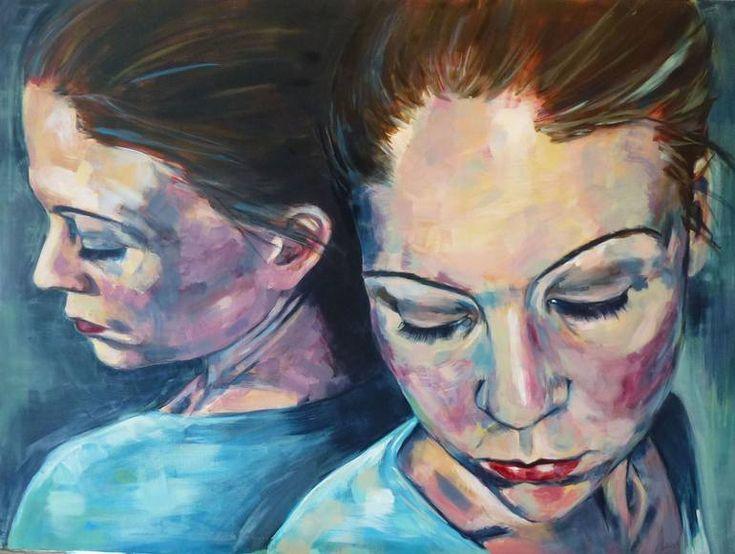 """Saatchi Art Artist Elisabeth Handelsby; Painting, """"DOUBLE (SOLD)"""" #art"""