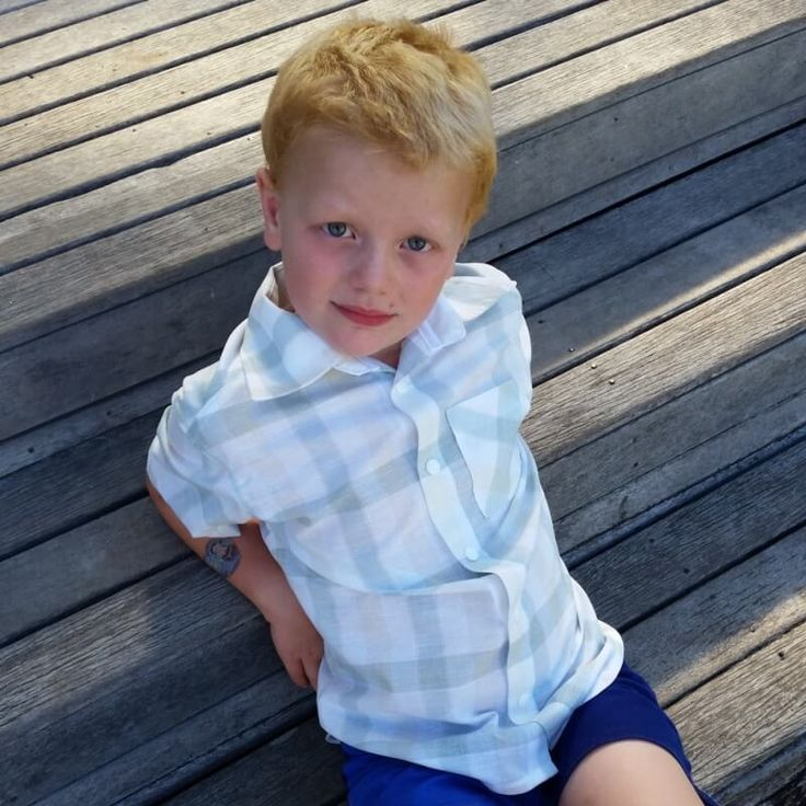 Boy's Dress Shirt Pattern and Tutorial (FREE!). Make a Boy's Dress Shirt using this easy to follow tutorial with a free PDF pattern included.