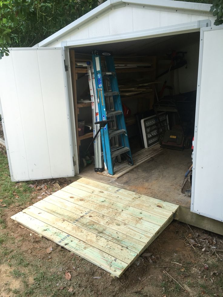 Ramp to a shed