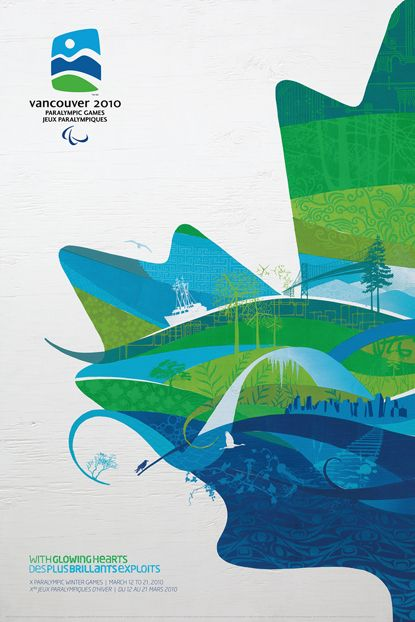 Vancouver 2010 Olympic & Paralympic Games Posters #GILOVEBC