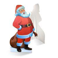 Levensgrote kerstman als kartonnen bord op 190 cm hoog formaat!   http://www.pimprint.nl/levensgrote-kerstman/