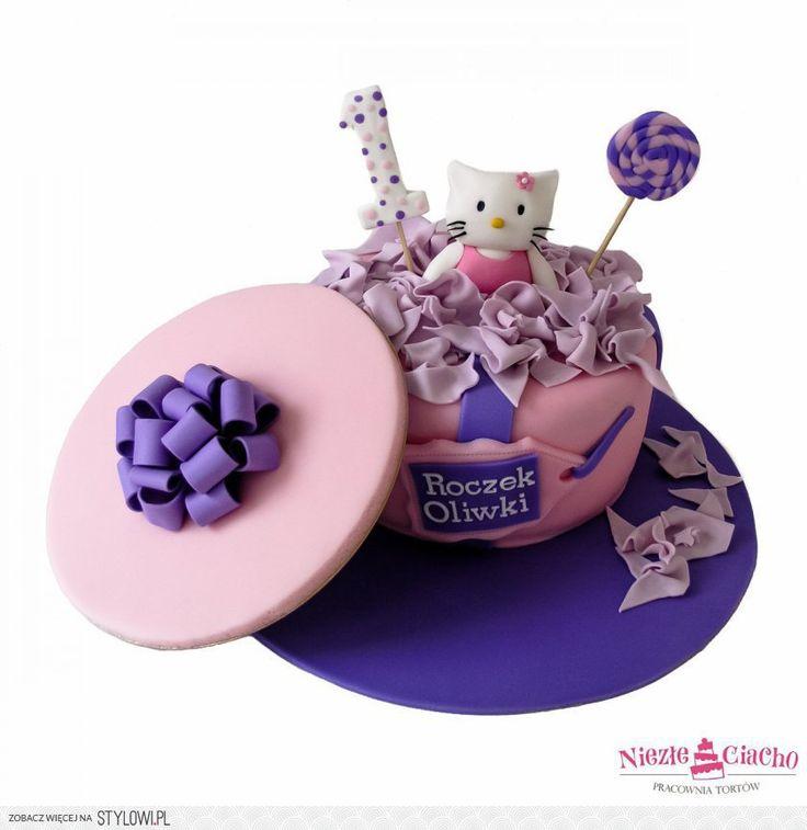 Hello Kity, tort urodzinowy, urodziny dziecka, torty dl… na Stylowi.pl