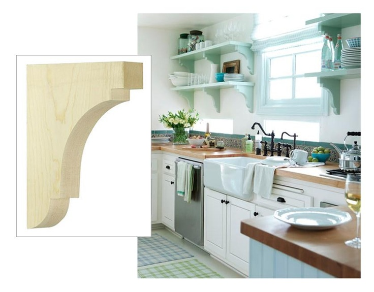 Simple Wood Corbels : Images about simple corbels counter brackets on