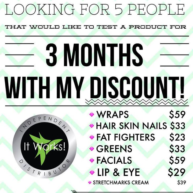 Would you like to get It works products at a discount? Message me kelseydee123.myitworks.com