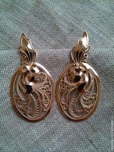 """Купить Золотые серьги """"Золотая осень"""" - золотые серьги, золотые сережки, филигранные серьги, филигрань"""