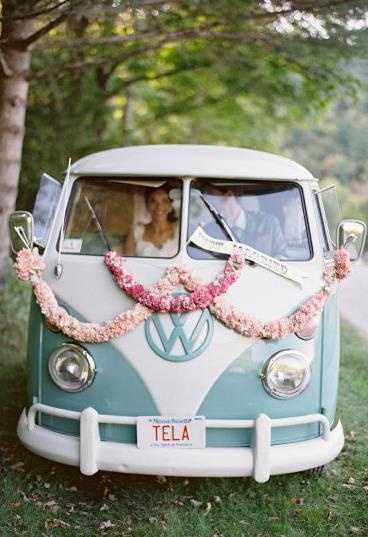 @Jordan Bromley Bromley: you'll need this! Vintage just married vw bus.