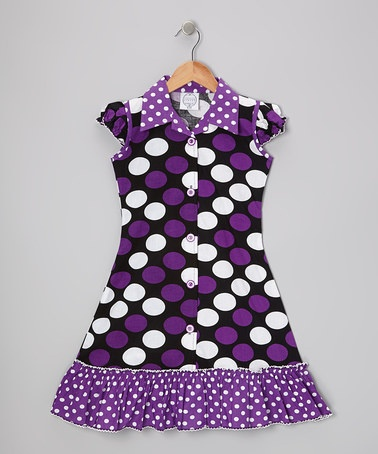 LOVE this Purple Polka Dot Sundress by Vintage Circus on #zulily today!