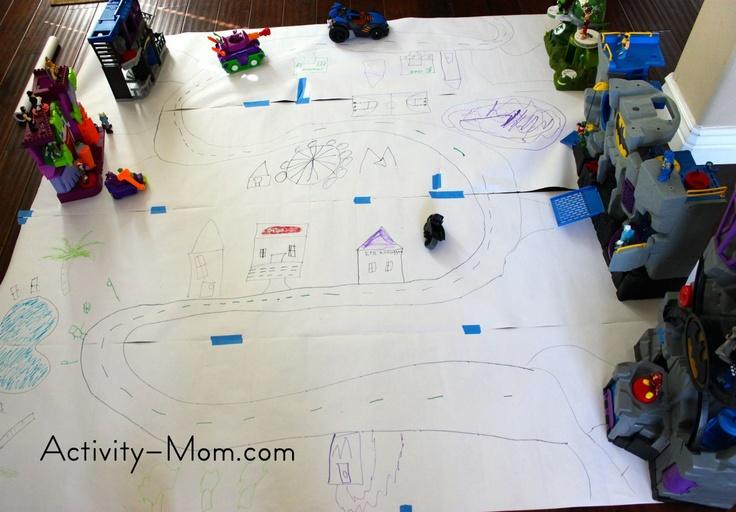 Make a Superhero CityActivities Boys, Kids Stuff, Children Activities, Kids Activities, Activities Mom, Boys Games, Kids Games, Superhero Cities, Boys Activities