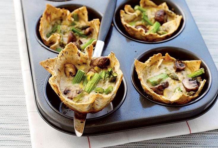 Mushroom, leek and asparagus tartlets | Total Wellbeing Diet