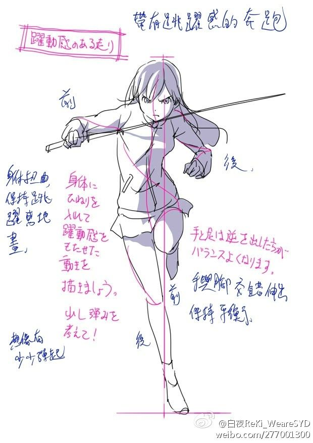 Reference of person holding a sword