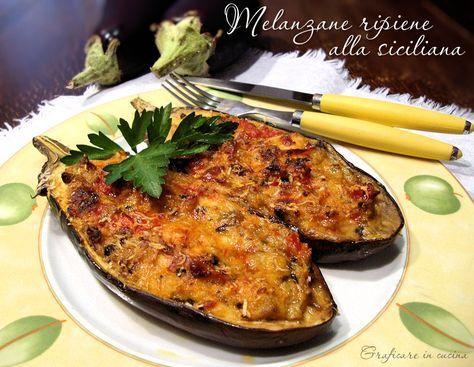 Melanzane ripiene alla siciliana http://blog.giallozafferano.it/graficareincucina/melanzane-ripiene-siciliana/
