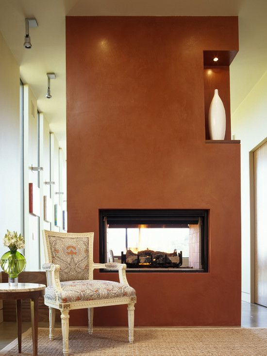 What Color Goes With Terra Cotta Tile Design, Pictures, Remodel, Decor and Ideas - page 29Wall Colors, House Architects, Cozy Room, Modern Families, Family Rooms, Modern Family, Fireplaces Wall, Families Room, Accent Wall