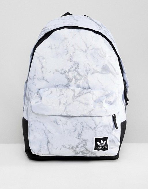 Adidas Skateboarding Marble Print Backpack in White DH2570  8be5a20a1f48f