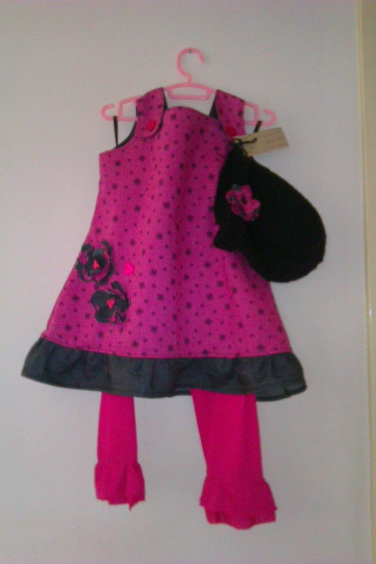 ceres Pinafore with leggings and Beanie