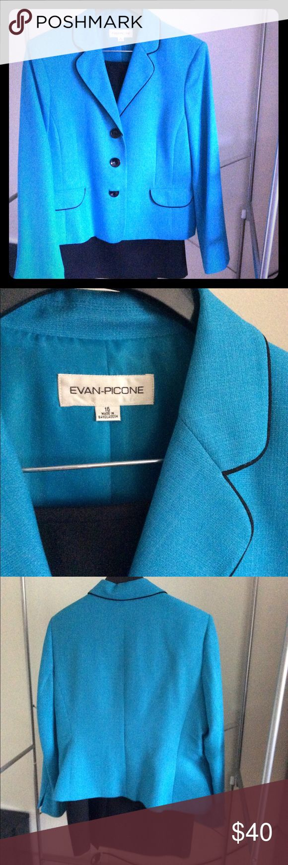 Evan Picone size 16 light blue blazer Evan Picone size 16 light blue blazer. Skirt in separate listing Evan Picone Jackets & Coats Blazers