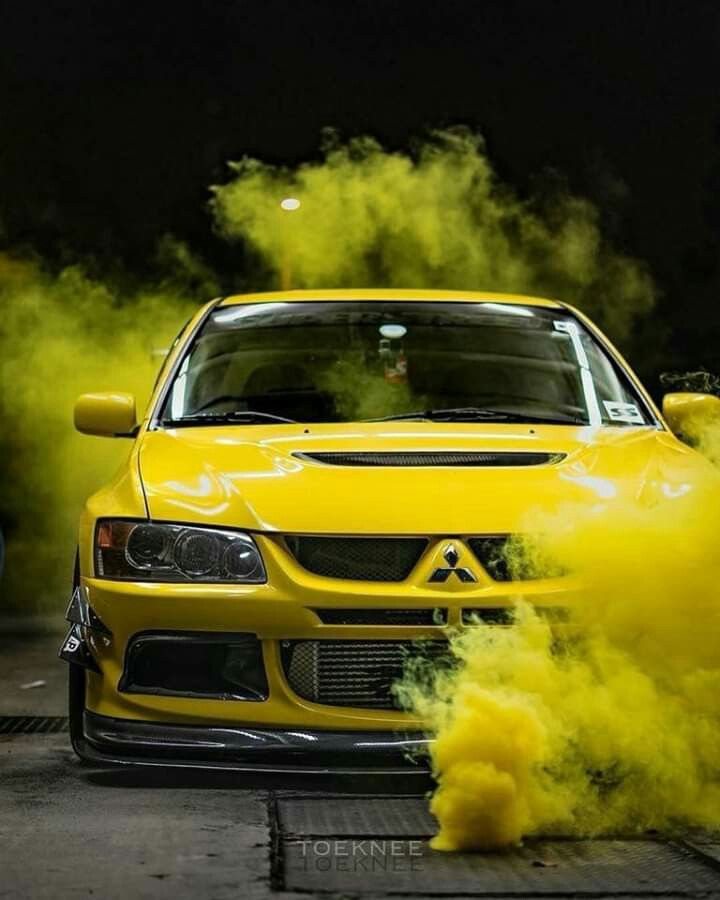 Yellow Mitsubishi Evo Mitsubishi Lancer Evolution Sports Cars