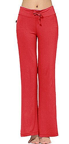 New Trending Pants: Womens Long Modal Comfy Drawstring Trousers Loose Straight-leg for Yoga Running Sporting (XXL, Red). Women's Long Modal Comfy Drawstring Trousers Loose Straight-leg for Yoga Running Sporting (XXL, Red)  Special Offer: $13.99  133 Reviews Approximate FLAT measurements are non-stretched dimensions (inches) Medium: Waist 28″, Length (Unfolded ) 38.5″ Large: Waist...