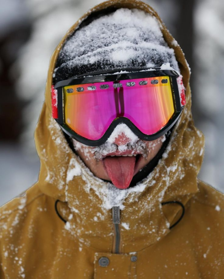 Winter's back and it tastes so good! \n@darkerpuke enjoying a little snow in the face. Pic @staywild #brightonresort
