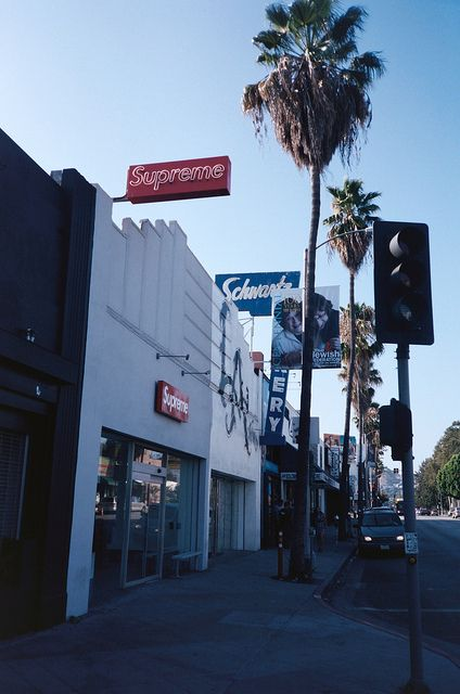 Supreme on fairfax avenue in Los Angeles CA  Places Ive Been in 2019  California surf